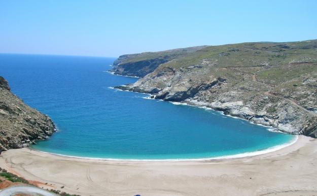 Zorkou Beach, Andros